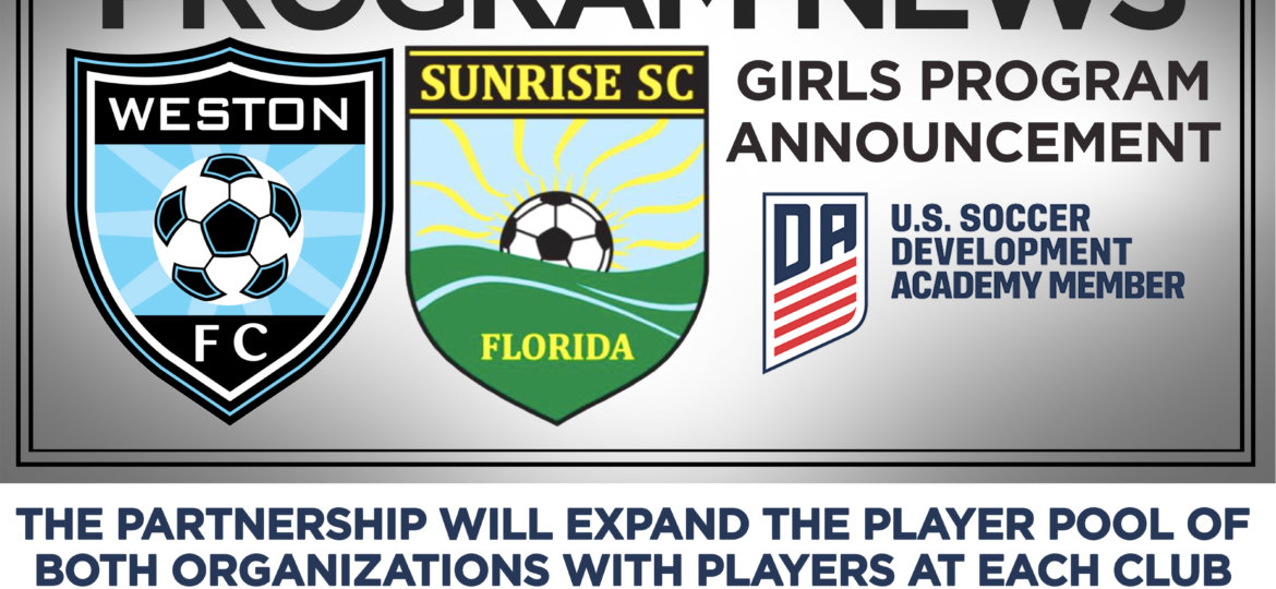 6c627069ac6 13 May  Weston FC and Sunrise Sting Soccer Clubs announce a partnership