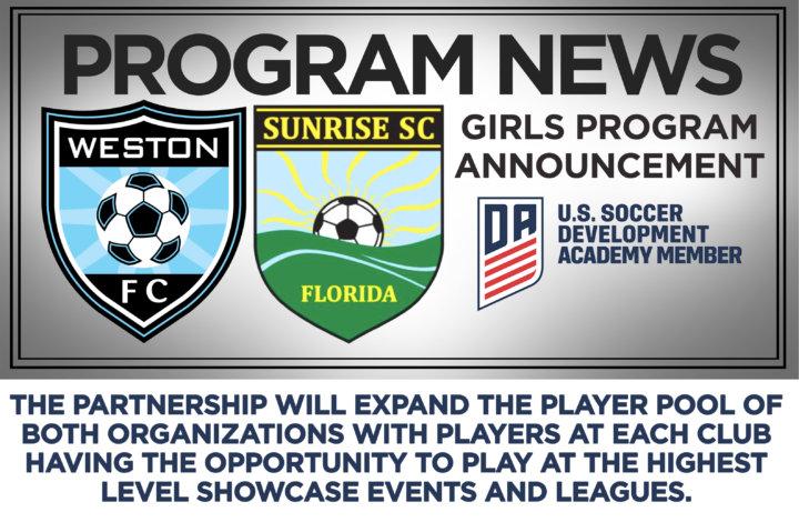 1fec3a322d9 Weston FC and Sunrise Sting Soccer Clubs announce a partnership – Weston FC