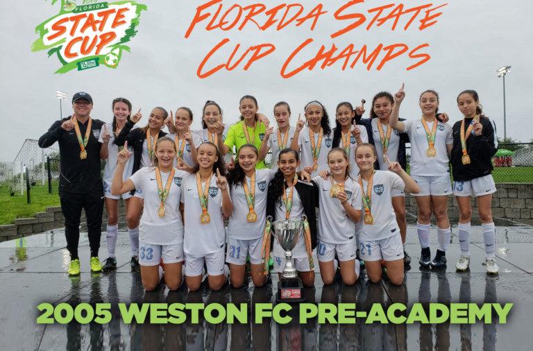 Weston FC 2005 Girls Pre-Academy Champions