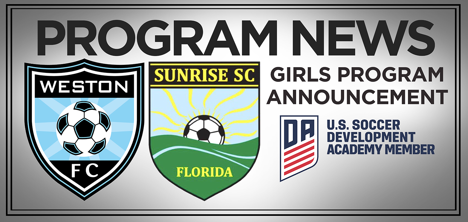 016cfaf67f2 The Weston FC and Sunrise Sting Soccer Clubs would like to formally  announce a partnership aligning these already strong soccer organizations.