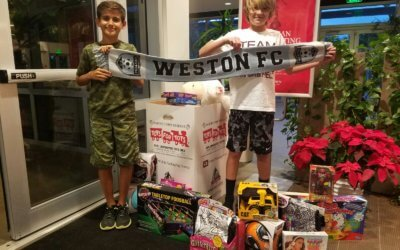 13U Boys Give to Toys for Tots