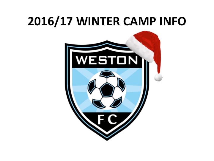 2016/17 Winter Camp Info