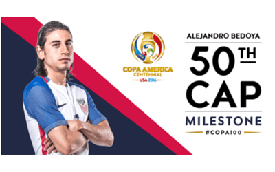 50th Cap for Alejandro Bedoya with the USA Men's National Team