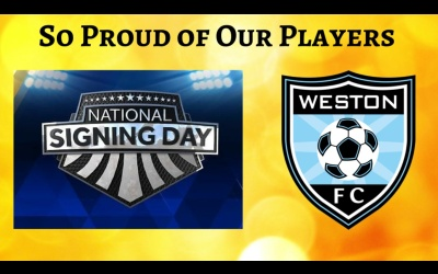 Weston FC Players Announce College Choices on National Signing Day